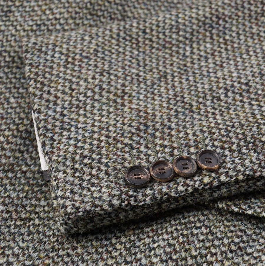 Cesare Attolini Sage Green Tweed Wool Coat - Top Shelf Apparel