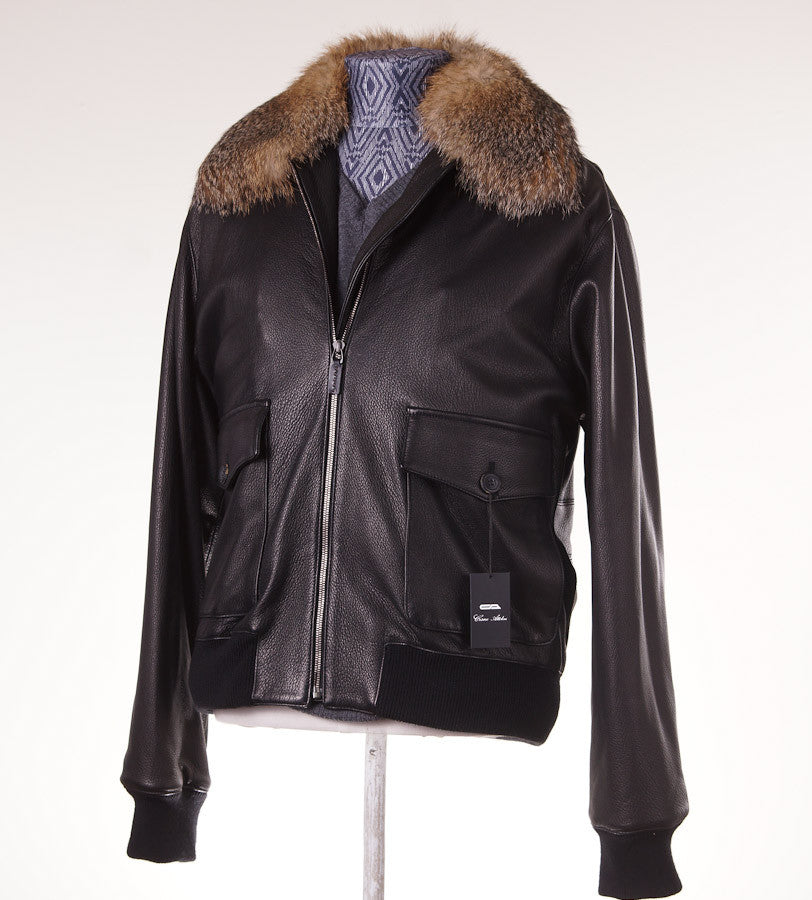 Cesare Attolini Mink-Lined Leather Bomber Eu 50/US 40 - Top Shelf Apparel