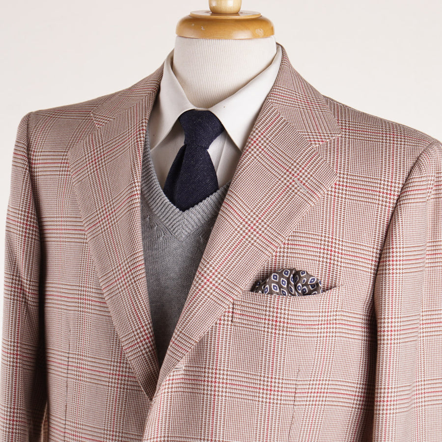 Cesare Attolini Glen Plaid Cotton Sport Coat