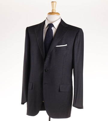 Cesare Attolini Solid Charcoal Gray Wool Suit