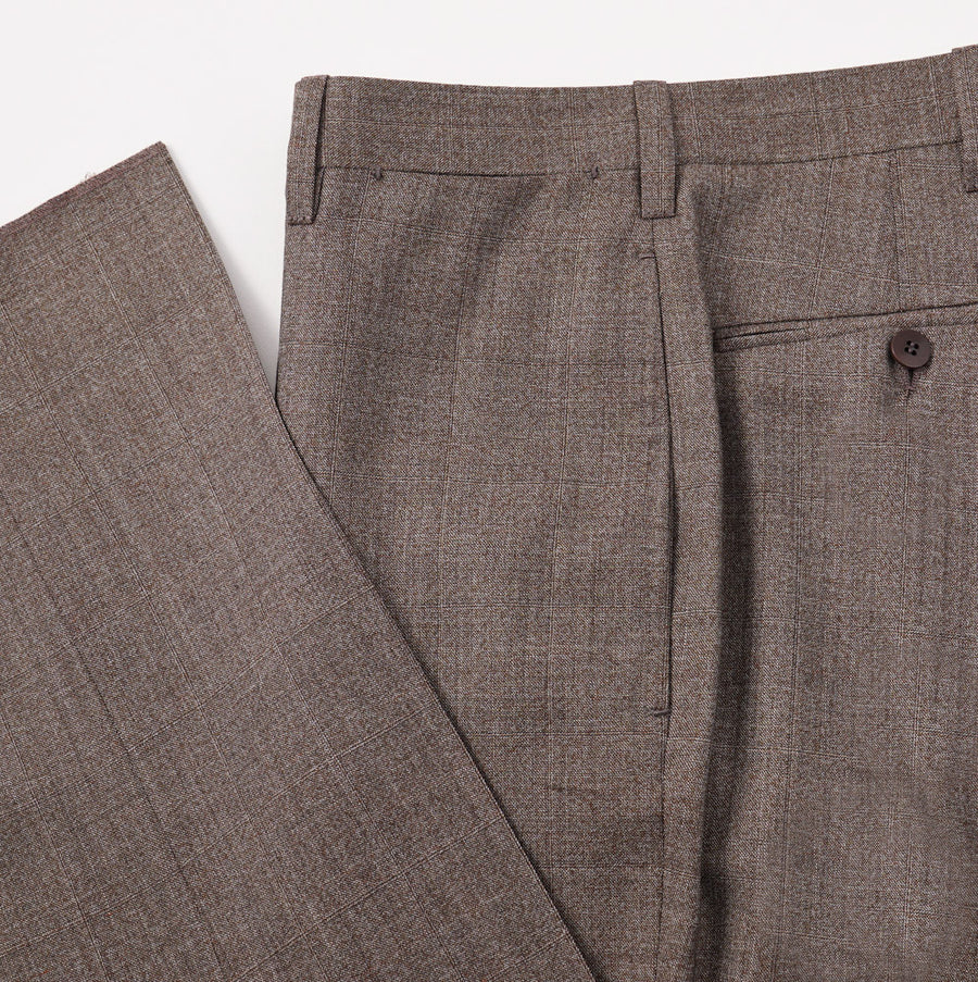 Cesare Attolini Windowpane Check Wool Suit