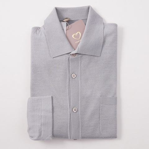Cruciani Button-Front Knit Cashmere Shirt
