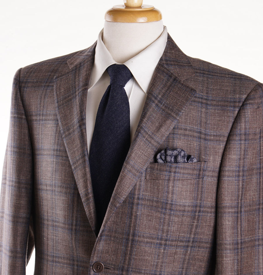 Canali Brown Check Wool-Silk-Linen Sport Coat - Top Shelf Apparel