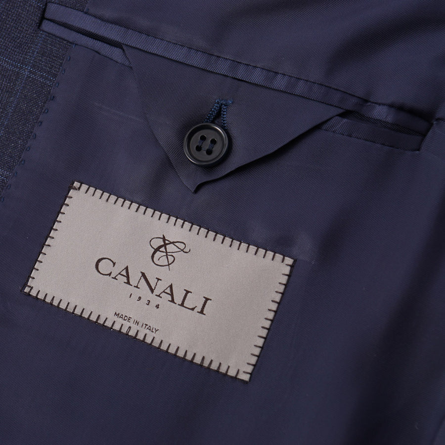 Canali Darker Blue Check Wool Suit - Top Shelf Apparel