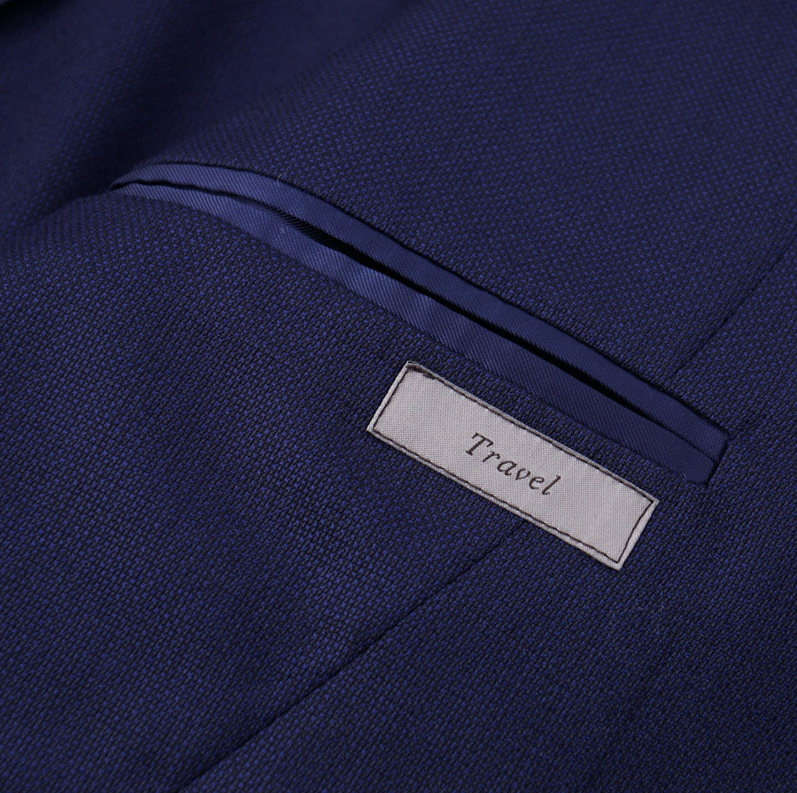 Canali Navy Blue 'Kei' Wool Suit