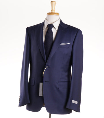 Canali Navy Blue Micro Stripe Wool Suit