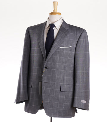 Canali 'Exclusive' Gray Check Wool Suit