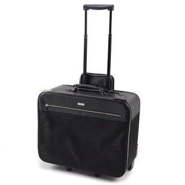 Canali Leather and Nylon Carry-On Roller Suitcase