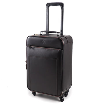 Canali Leather Carry-On Spinner Suitcase