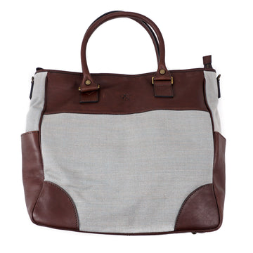 Canali Leather and Canvas Overnight Bag - Top Shelf Apparel