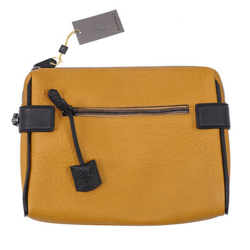 Canali Grained Leather Laptop Travel Case - Top Shelf Apparel