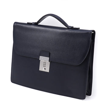Canali Slim Briefcase in Safiano Leather