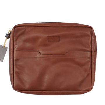 Canali Padded Soft Leather Laptop Sleeve