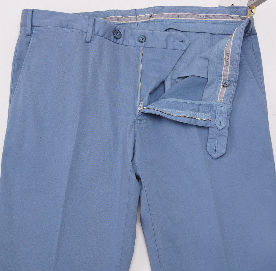 Canali Slate Blue Cotton Chinos Eu 54/US 37W - Top Shelf Apparel - 3