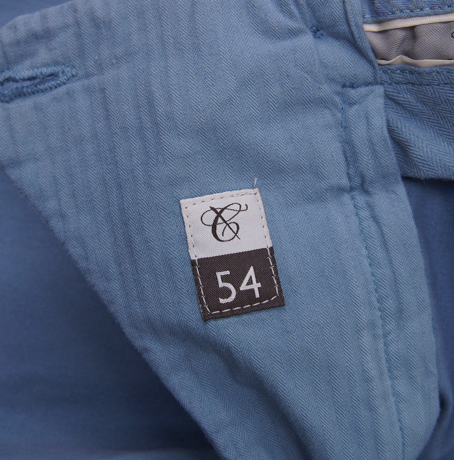 Canali Slate Blue Cotton Chinos Eu 54/US 37W - Top Shelf Apparel - 4