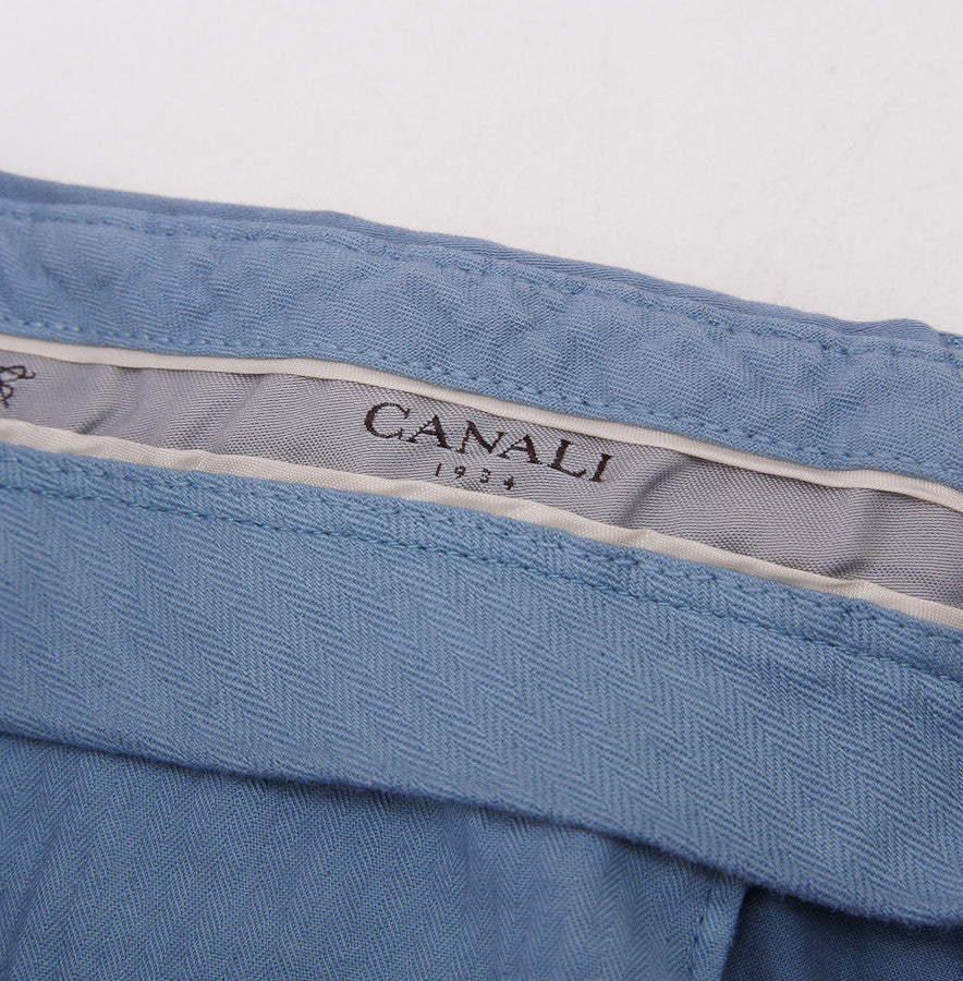 Canali Slate Blue Cotton Chinos Eu 54/US 37W - Top Shelf Apparel - 5