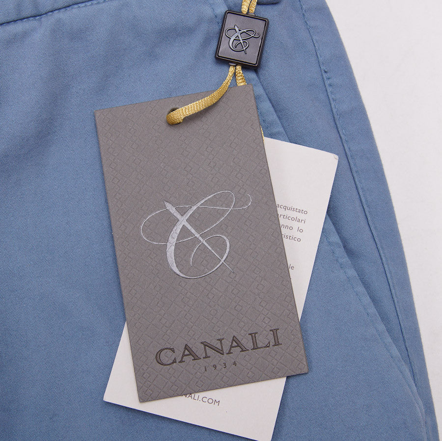 Canali Slate Blue Cotton Chinos Eu 54/US 37W - Top Shelf Apparel - 6