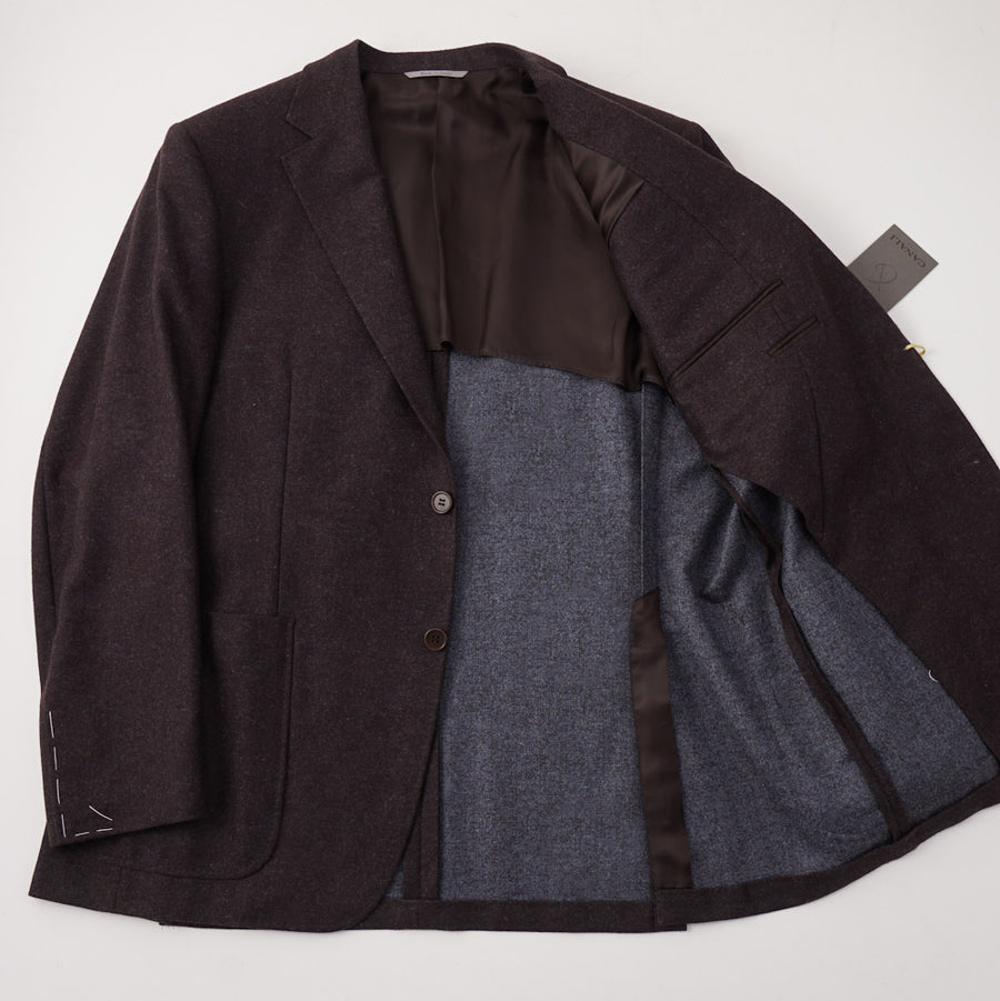 Canali Plum Flannel Wool Sport Coat