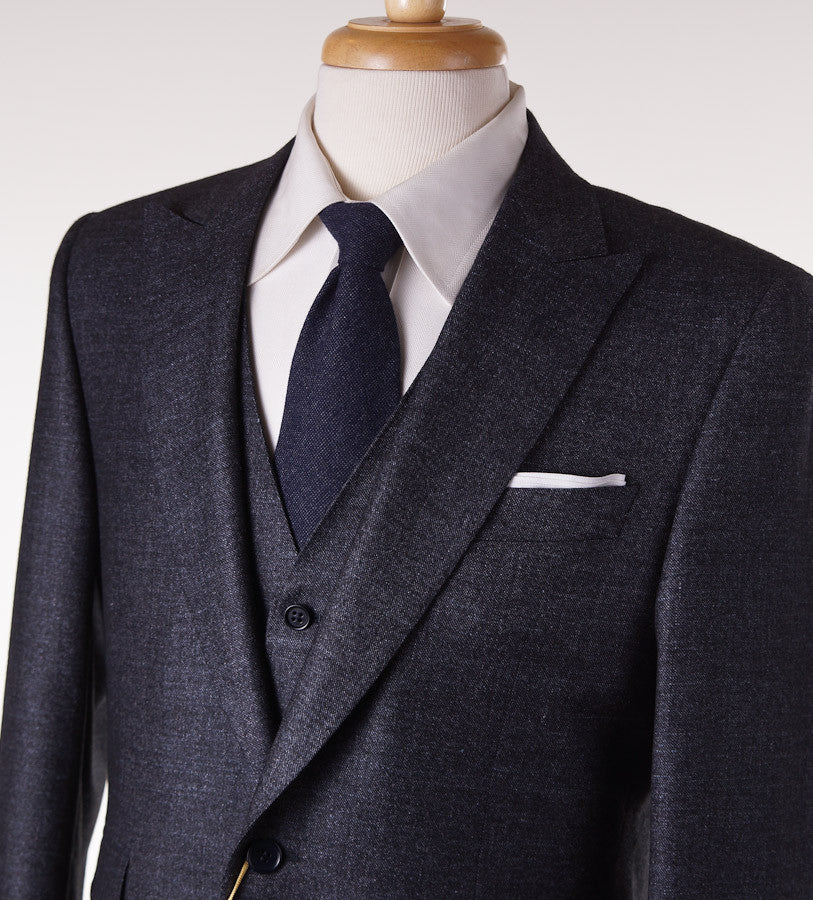 Canali Dark Gray Three-Piece Suit Eu 50/US 40R - Top Shelf Apparel - 2