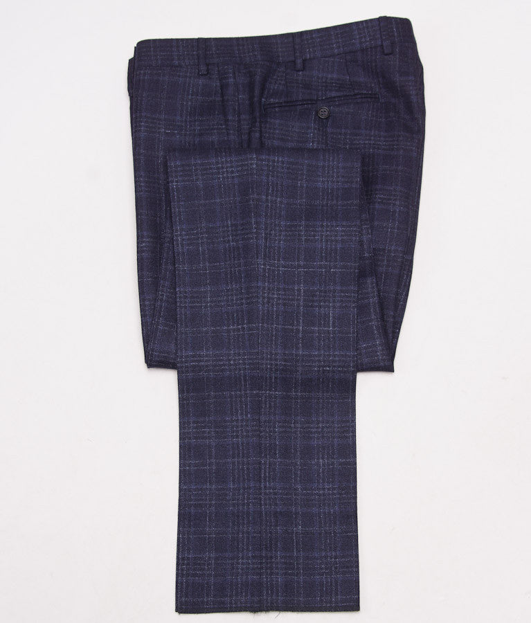 Canali Dark Blue Check Suit Eu 50/US 40R - Top Shelf Apparel - 11