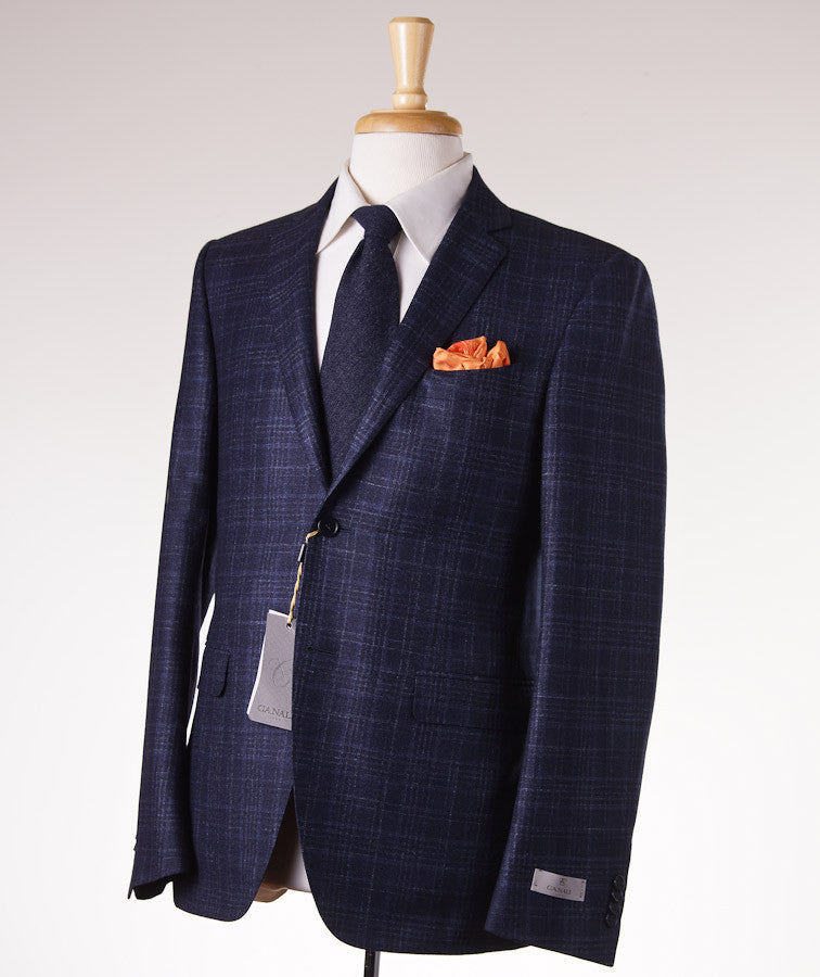 Canali Dark Blue Check Suit Eu 50/US 40R - Top Shelf Apparel - 1
