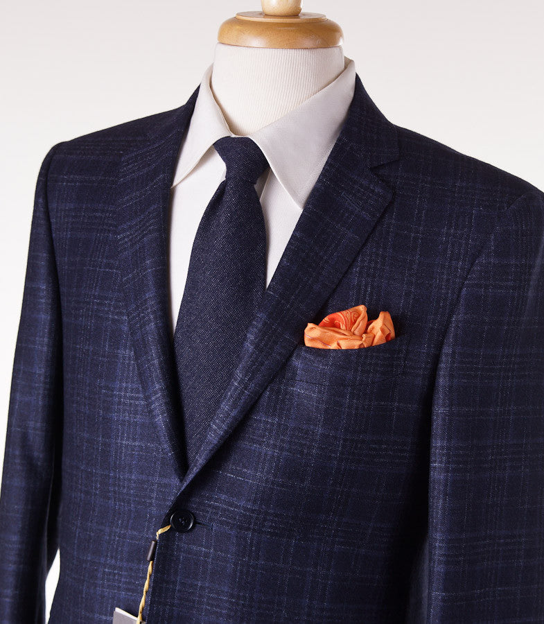 Canali Dark Blue Check Suit Eu 50/US 40R - Top Shelf Apparel - 2