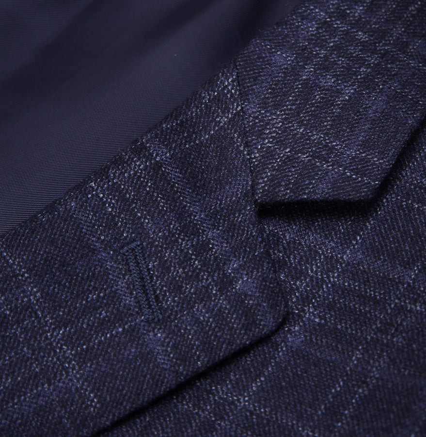 Canali Dark Blue Check Suit Eu 50/US 40R - Top Shelf Apparel - 4