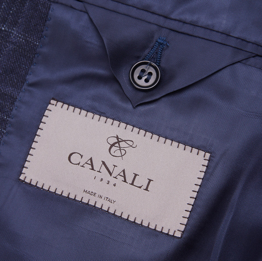 Canali Dark Blue Check Suit Eu 50/US 40R - Top Shelf Apparel - 9