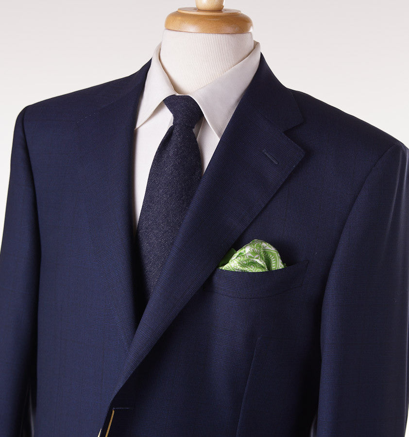 Canali Royal Blue Check Suit Eu 56/US 46R - Top Shelf Apparel