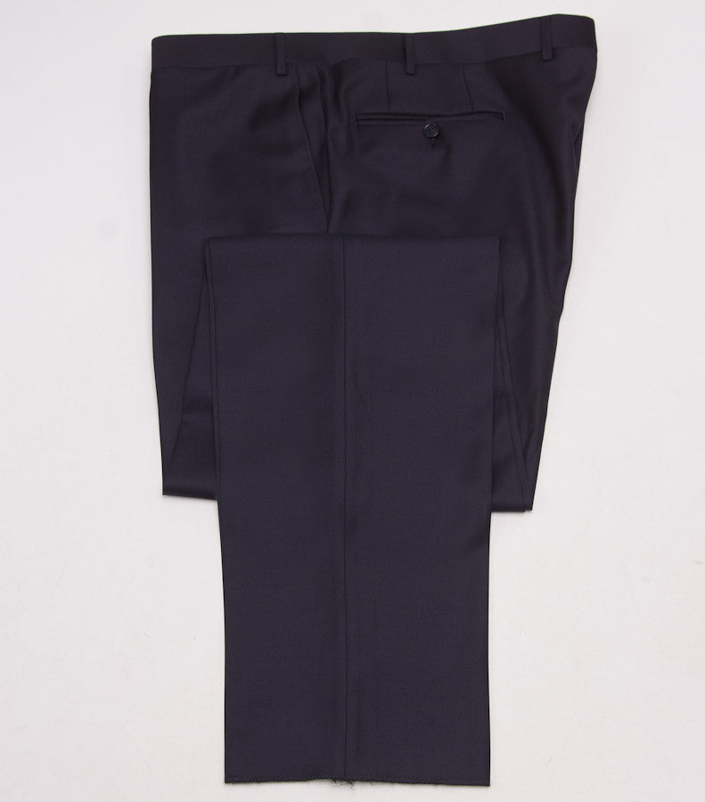 Canali Classic-Fit Solid Navy Wool Suit - Top Shelf Apparel - 10