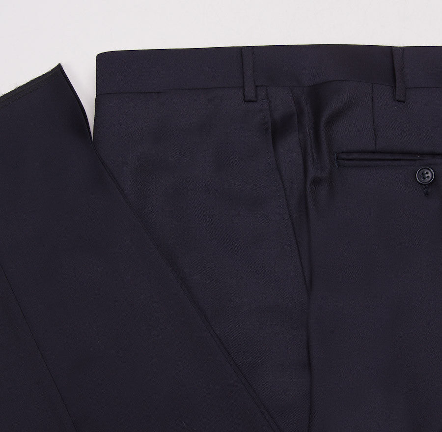 Canali Classic-Fit Solid Navy Wool Suit - Top Shelf Apparel - 11