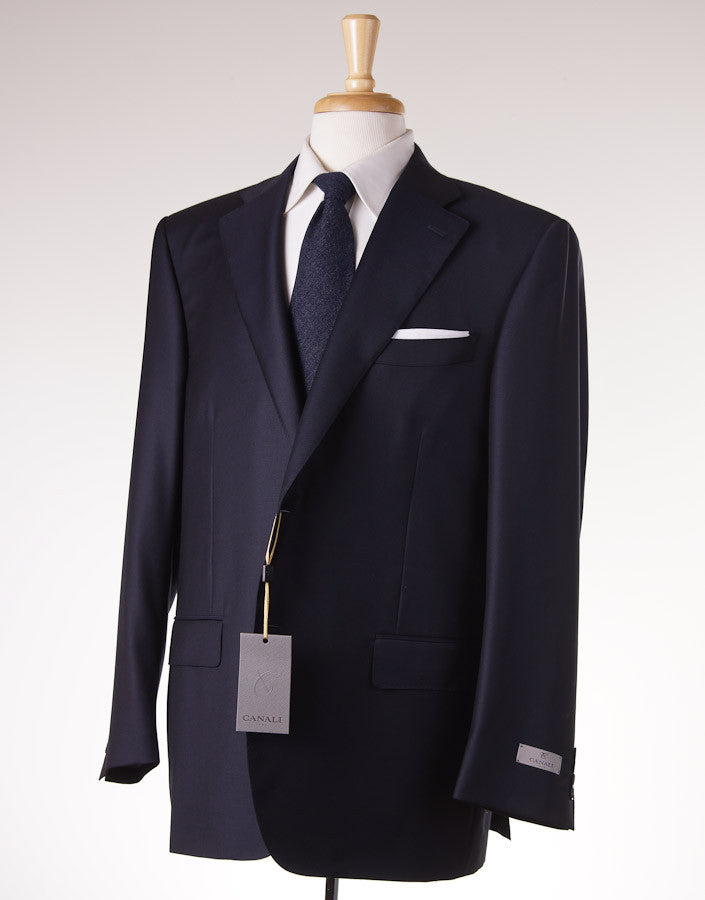 Canali Classic-Fit Solid Navy Wool Suit - Top Shelf Apparel - 1