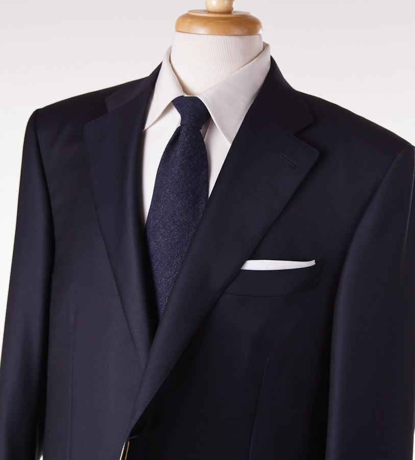 Canali Classic-Fit Solid Navy Wool Suit - Top Shelf Apparel - 2