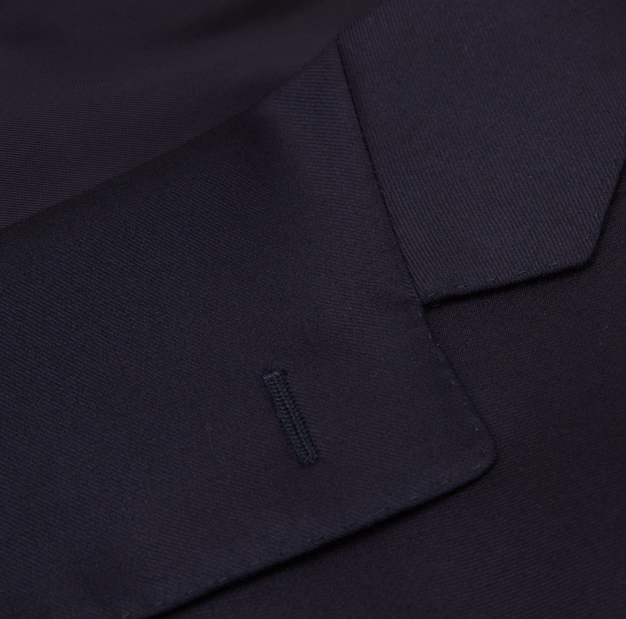 Canali Classic-Fit Solid Navy Wool Suit - Top Shelf Apparel - 4