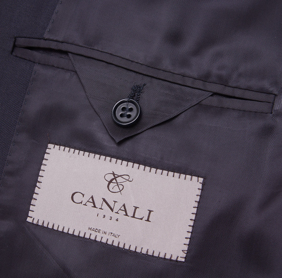 Canali Classic-Fit Solid Navy Wool Suit - Top Shelf Apparel - 8