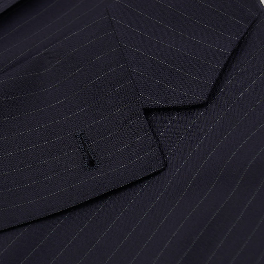 Cantarelli Navy Blue Stripe Wool Suit