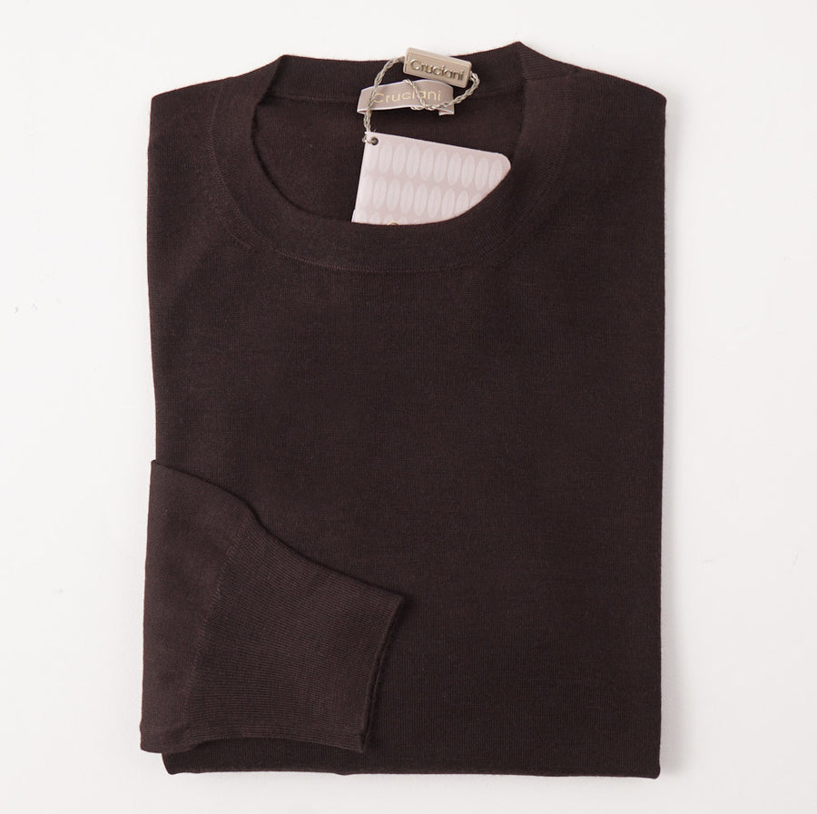 Cruciani Dark Brown Cashmere-Silk Sweater - Top Shelf Apparel