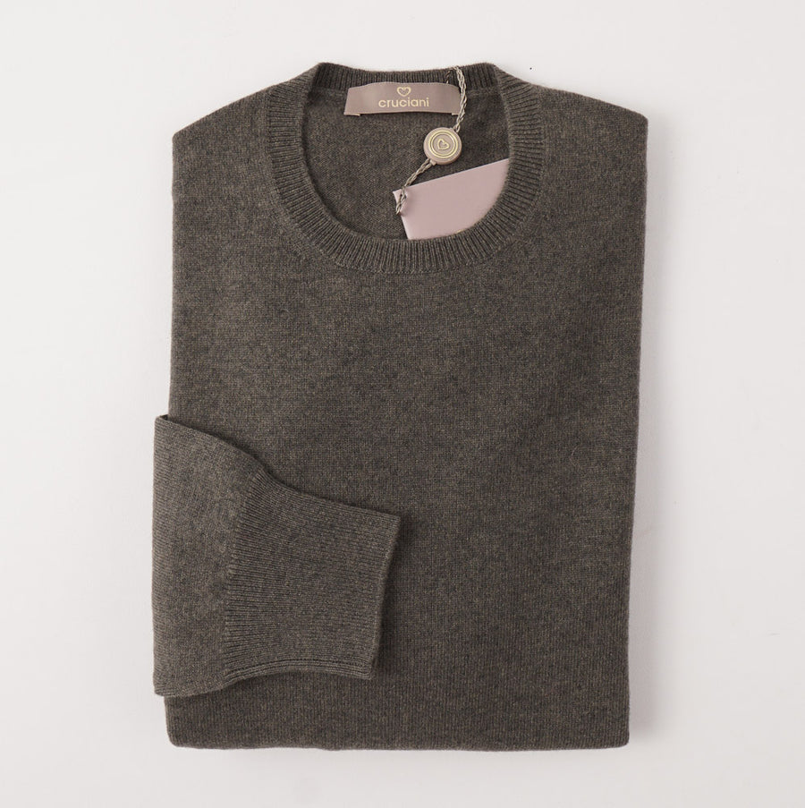 Cruciani Lichen Green Cashmere Sweater - Top Shelf Apparel