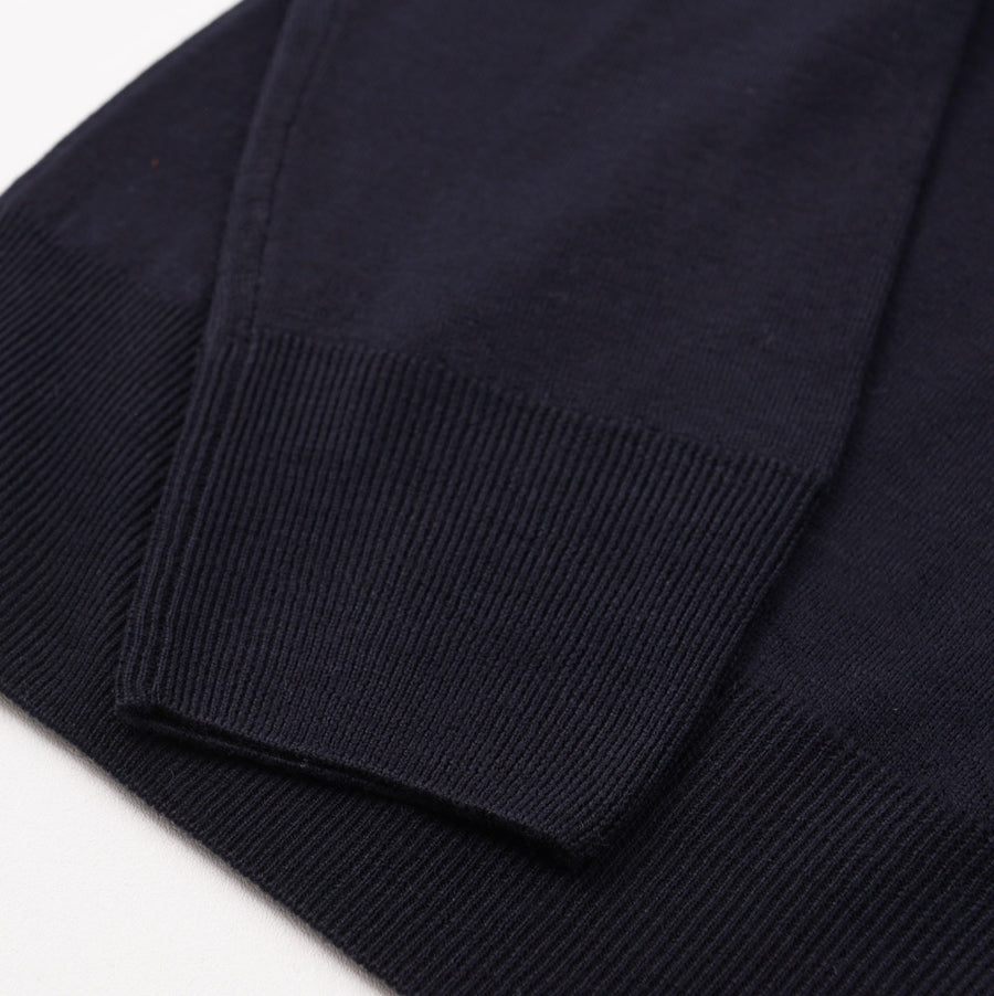 Cruciani Navy Merino Wool Crewneck Sweater