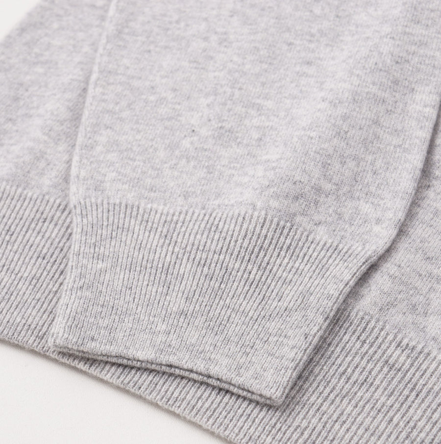 Cruciani Light Gray Cashmere Turtleneck Sweater