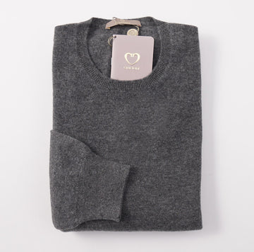 Cruciani Solid Gray Cashmere Sweater