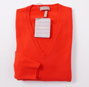 Cruciani Bright Red Cashmere Sweater