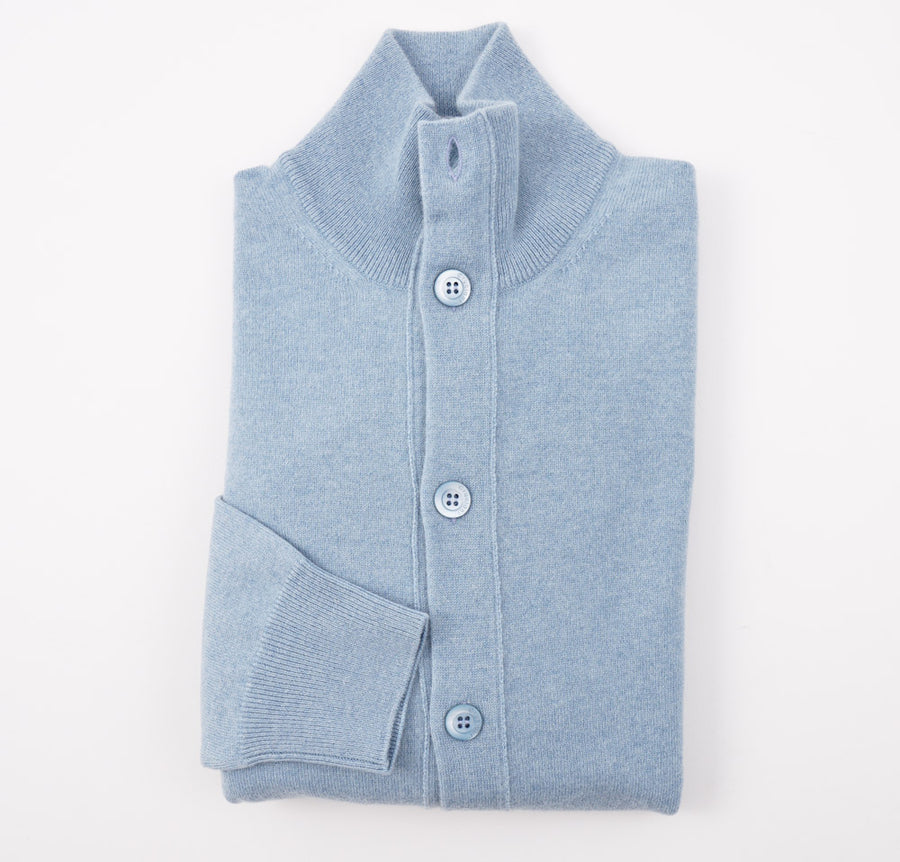 Cruciani Sky Blue Cashmere Cardigan Sweater - Top Shelf Apparel