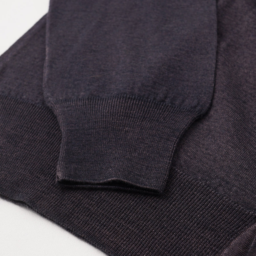 Cruciani Merino Wool Cardigan in Brown-Navy