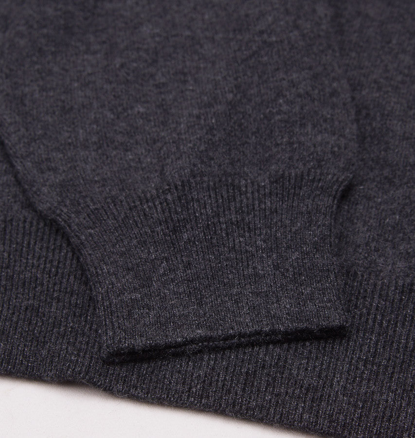 Cruciani Charcoal Cashmere Crewneck Sweater - Top Shelf Apparel - 2