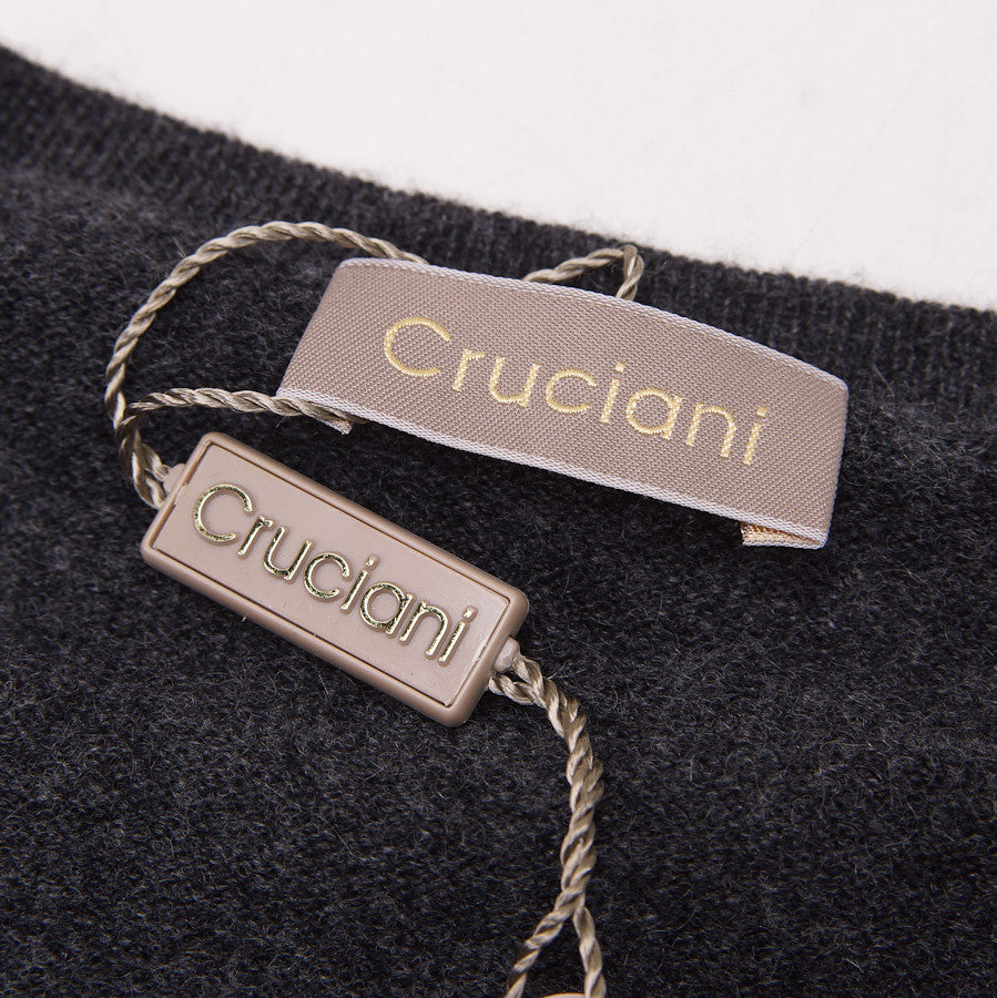 Cruciani Charcoal Cashmere Crewneck Sweater - Top Shelf Apparel - 4