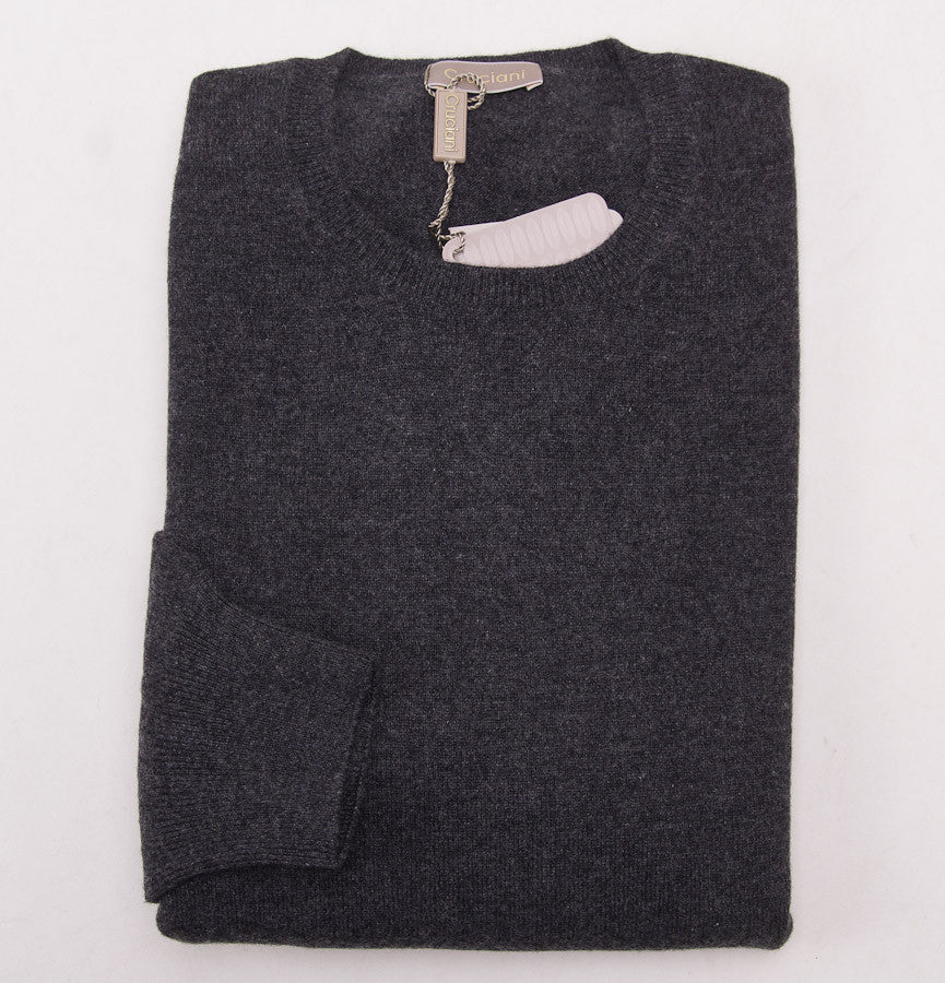 Cruciani Charcoal Cashmere Crewneck Sweater - Top Shelf Apparel - 1