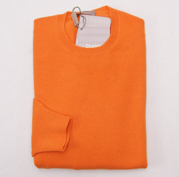 Cruciani Tangerine Cashmere Crewneck Sweater - Top Shelf Apparel - 1