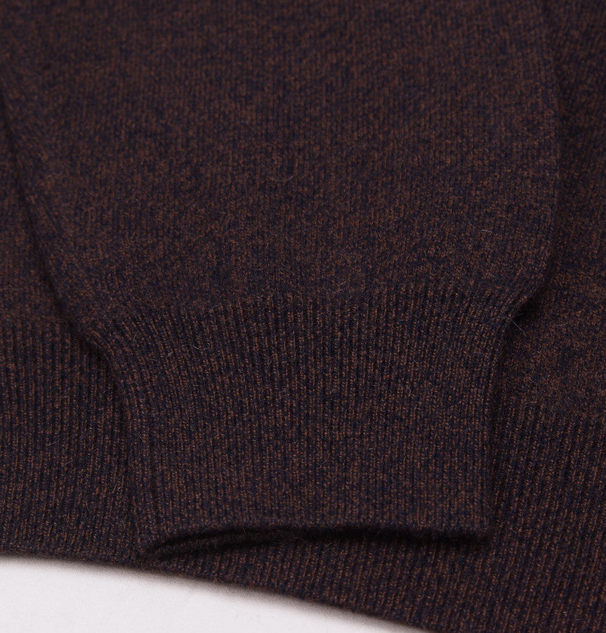 Cruciani Brown Melange Cashmere Sweater - Top Shelf Apparel - 2