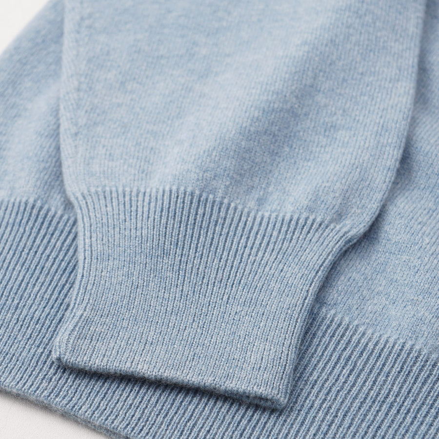 Cruciani Sky Blue V-Neck Cashmere Sweater - Top Shelf Apparel